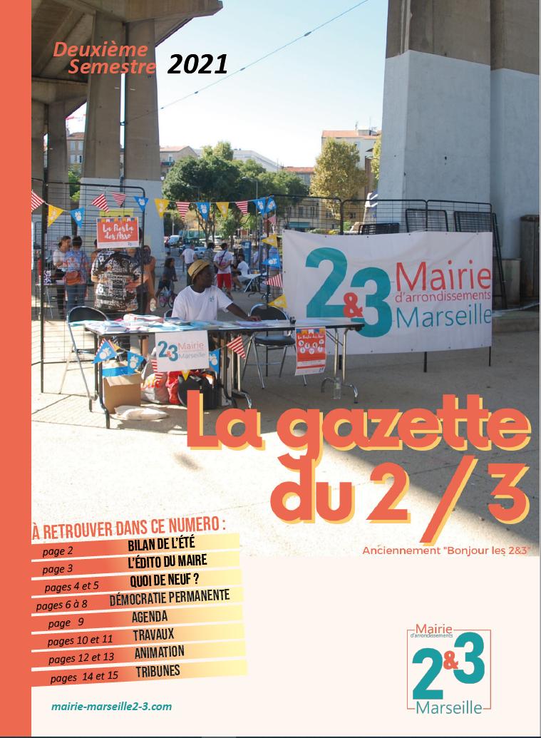 Couverture de la Gazette, sommaire et photo de la Fiesta des asso'